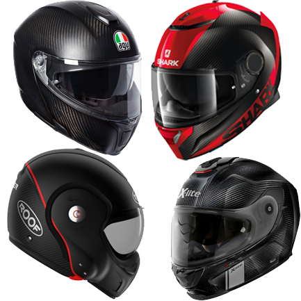 Carbon motorcycle helmets