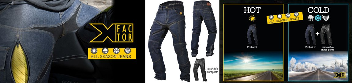 Probut X-Factor Motorcycle jeans from Trilobite