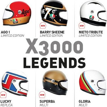 X3000 Full Face helmets