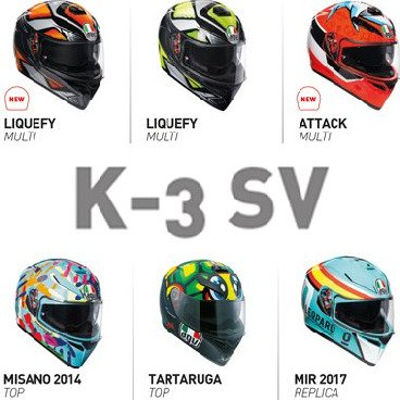 K-3 SV Full Face Helmets