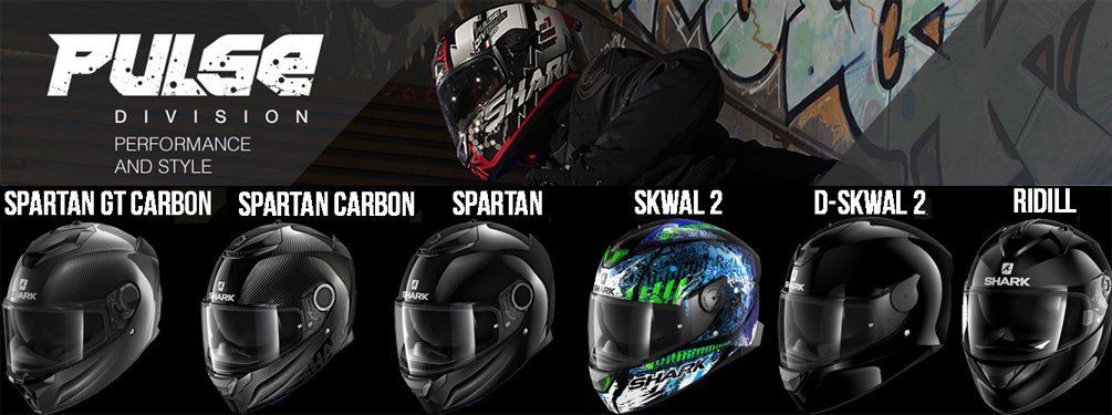 Shark Pulse Division - full-face helmets with performance and style