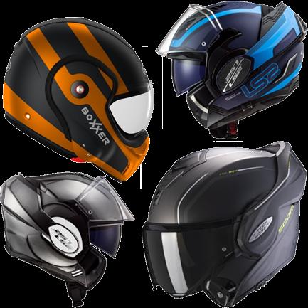 Overflap-helmets