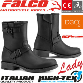 Falco Ladies Motorcycle Boots DANY 2 leather waterproof with D3O protectors and CE certification